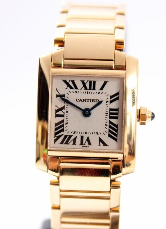 Cartier Tank Francaise 18K Gold Lady