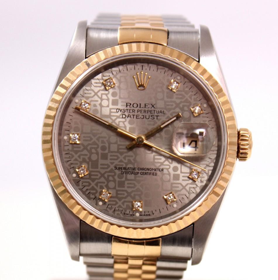 Rolex Datejust Jubilee Goud/staal met diamant Ref. 16233