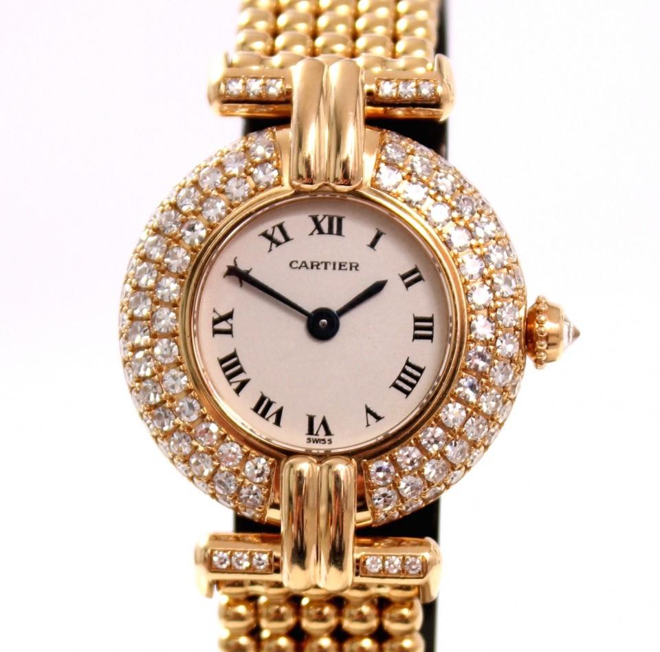Cartier Rivoli Dames Horloge 18 Krt. goud met briljant