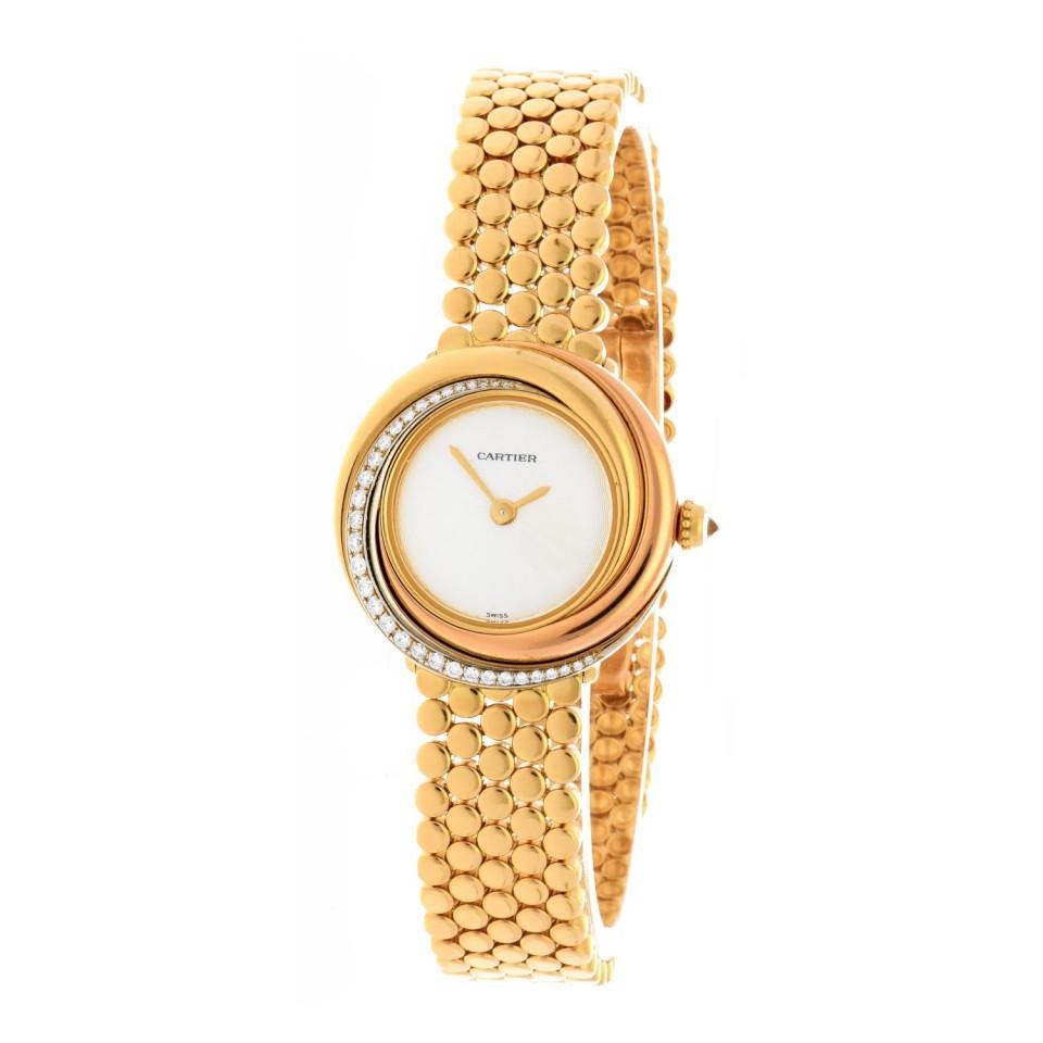 Cartier Trinity 18Krt. Tri-Color gouden dames horloge