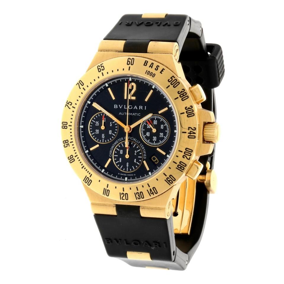 Bulgari Diagono Proffesional Chronograaf 18Krt. goud