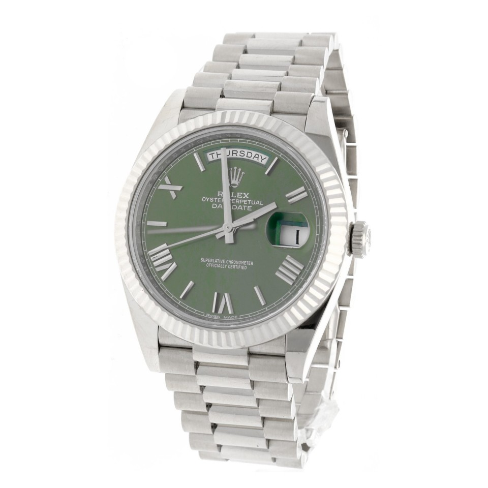 Rolex Day Date 40 Anniversary witgoud