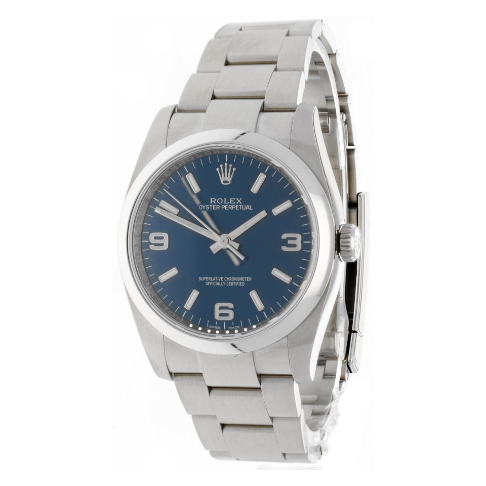 Rolex Oyster Perpetual Blue Dial 116000
