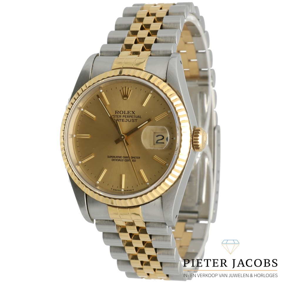 Rolex Datejust 36mm goud/staal Ref. 16233
