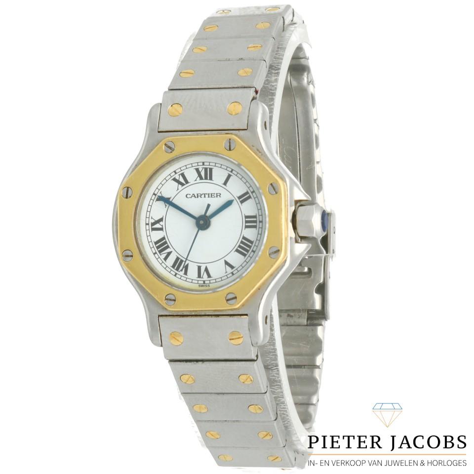 Cartier Santos Octagon goud/staal
