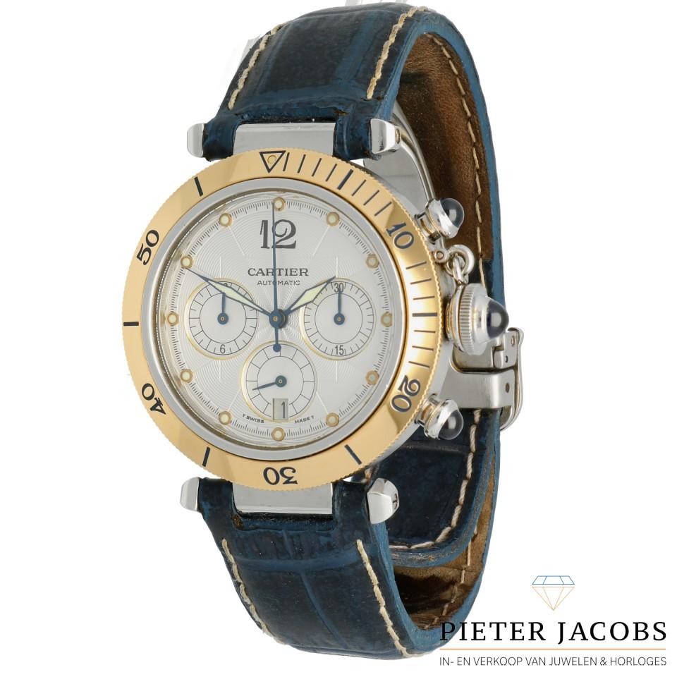 Cartier Pasha goud/staal Ref. 2113