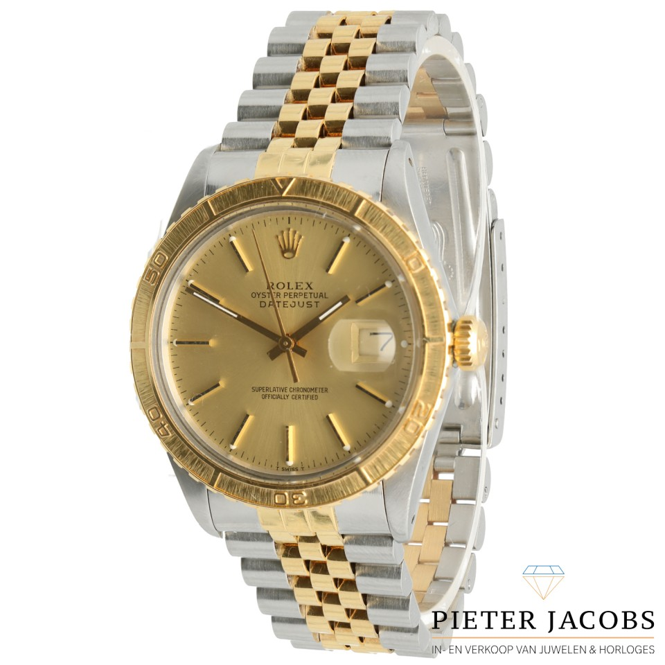 Rolex Datejust Turn-O-Graph Goud/Staal Ref. 16253