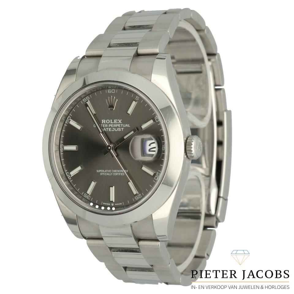 Rolex Datejust 41 ref: 126300 Dark Rhodium