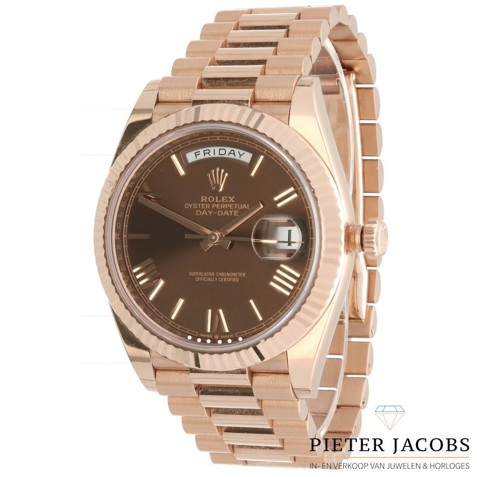 Rolex Day Date 40 Everose Gold Chocolate Dial Ref:228235
