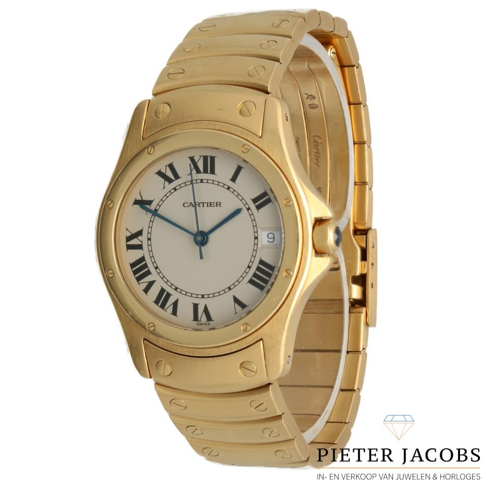Cartier Santos Galbee Ronde 18Krt.