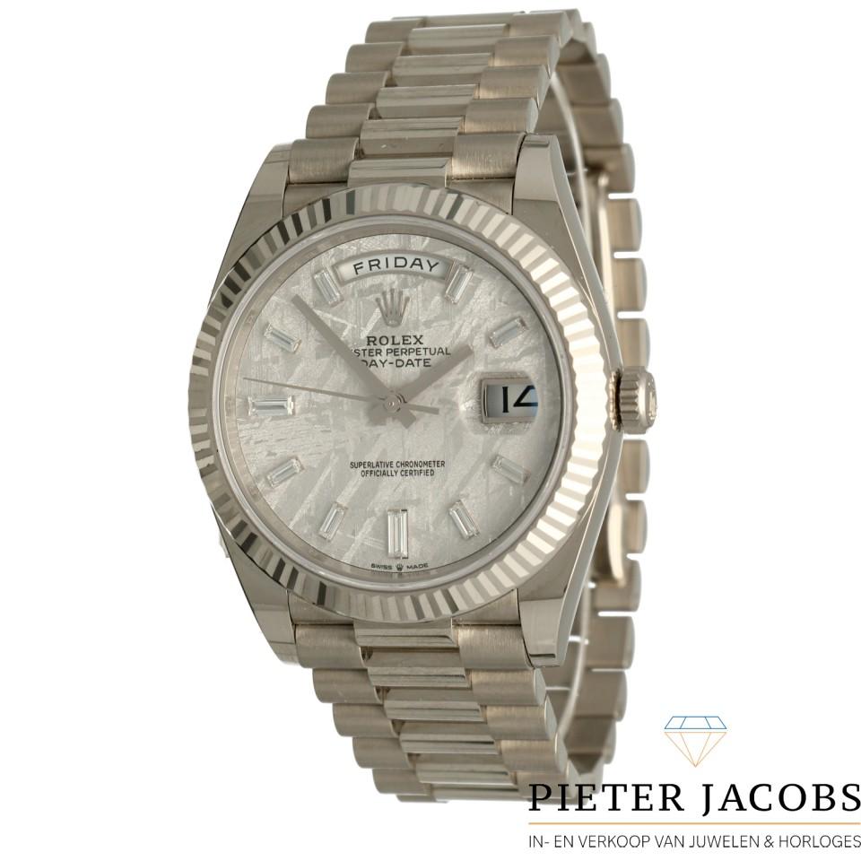 Rolex Day-Date 40 Meteorite-Baguette Ref.228239