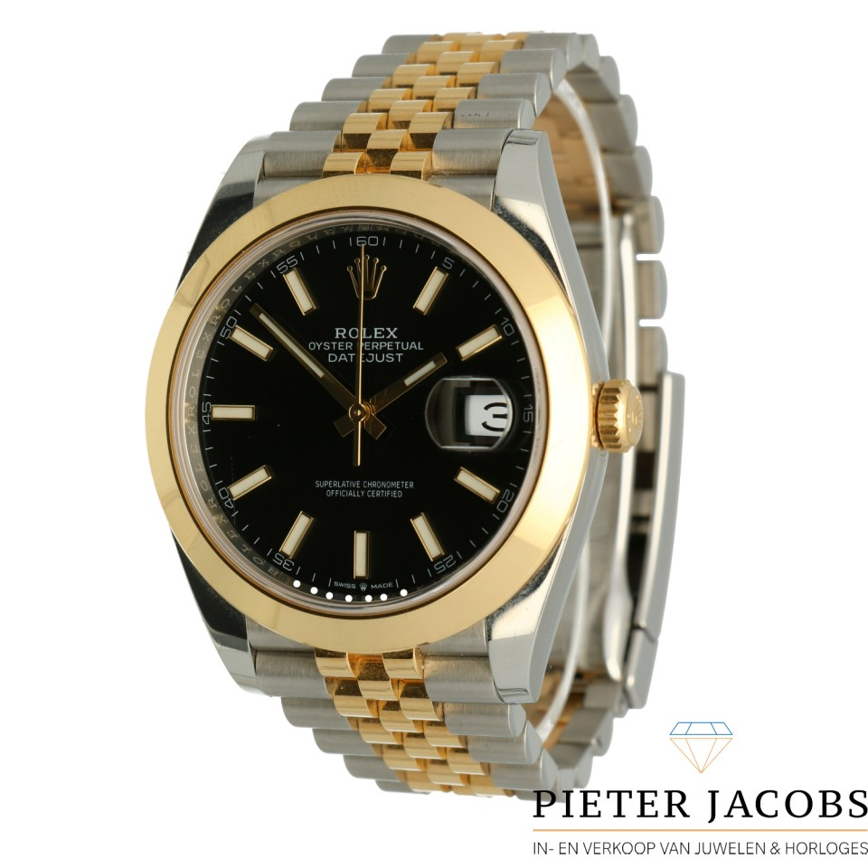 "Rolex Datejust 41 Gold/Steel Black Dial ""Jubilee"""