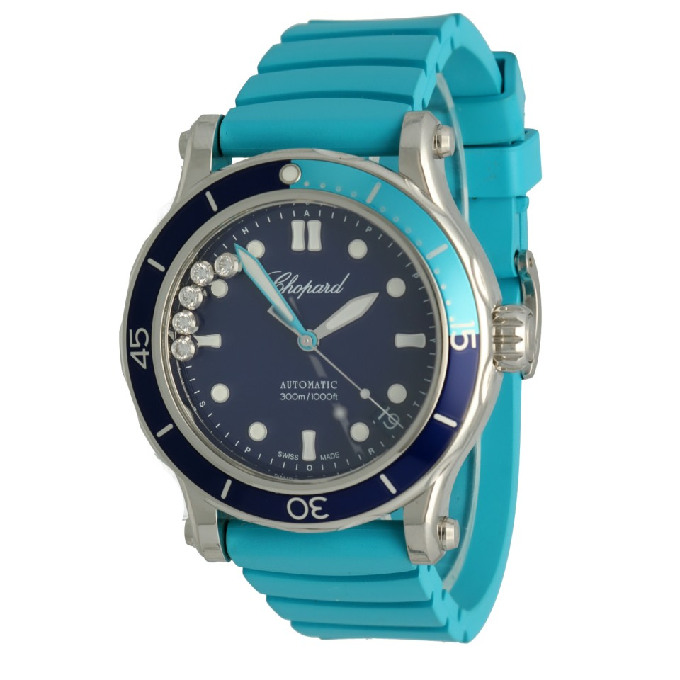 Chopard Happy Ocean Automatic Steel Diamonds Blue Dial 40mm