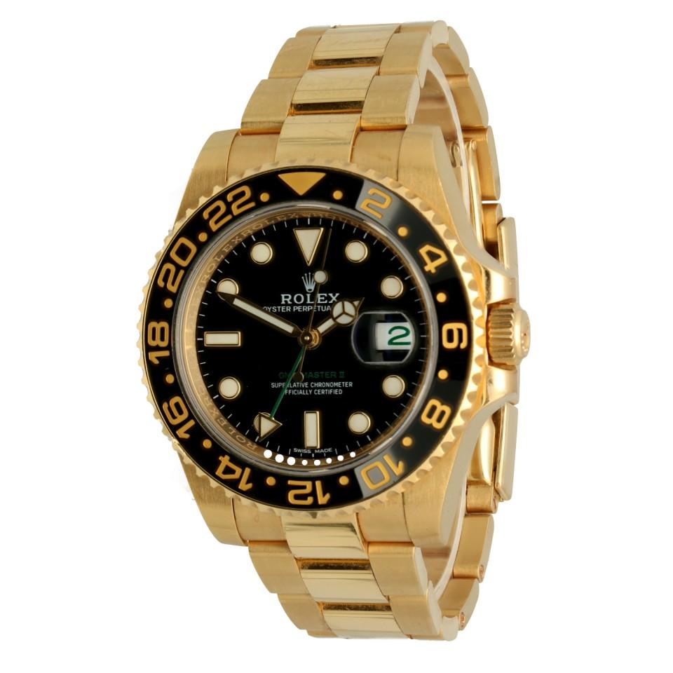 Rolex Gmt-master II Ref.116718LN 18K. Yellow Gold