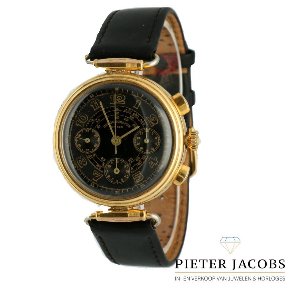 18 K. gold Movado Zenith Chronograph Cal. 146 HP