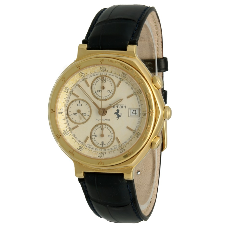 Ferrari By Cartier 18K gold Chronograaf