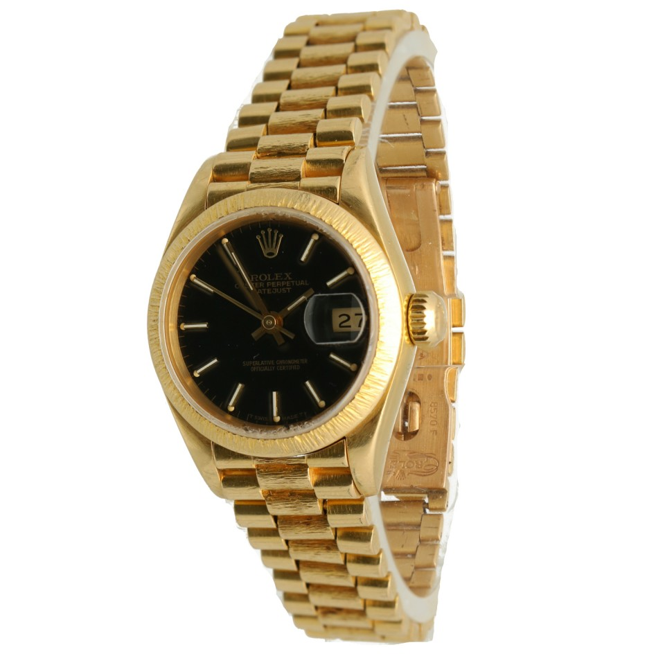 Rolex Lady-Datejust 26mm Bark 18K. Goud Ref.69178