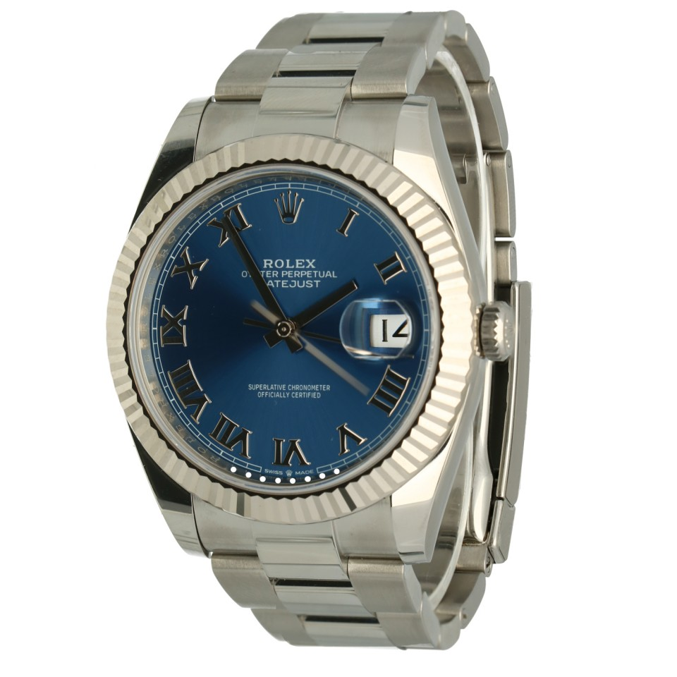 Rolex Datejust 41 Blue/Roman Index Ref. 126334