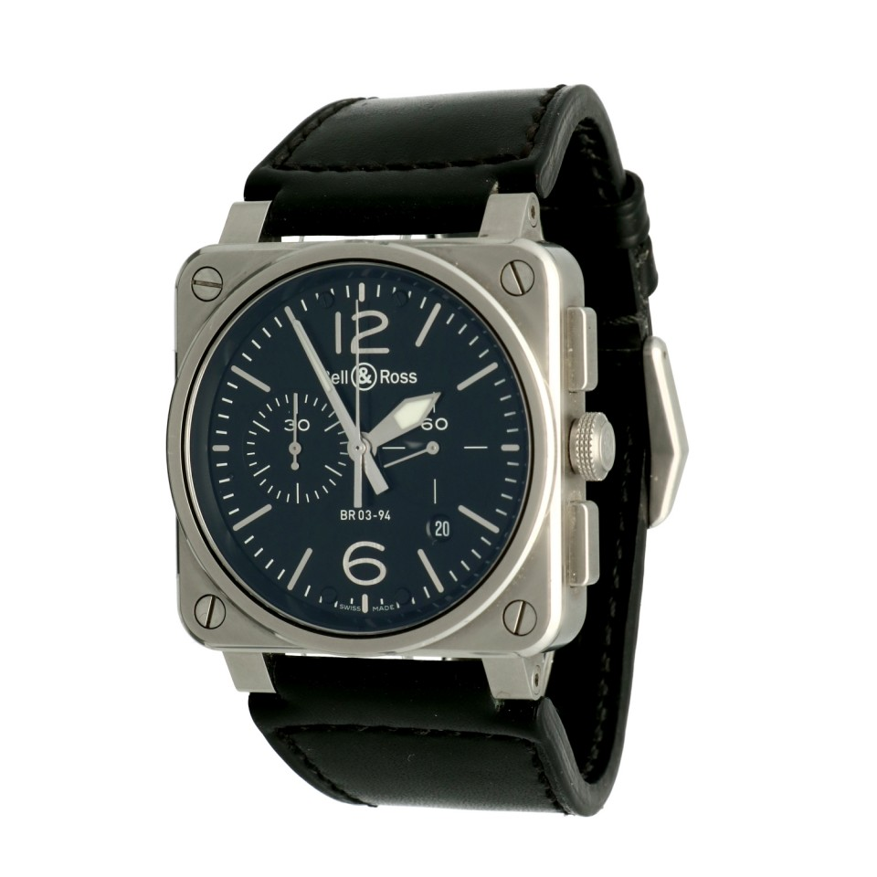 Bell & Ross BR03-94 Chronograaf Staal