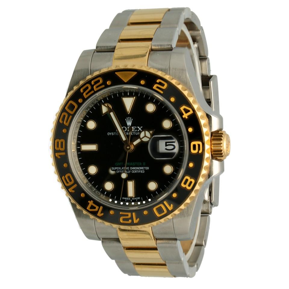 "Rolex GMT-Master II Ref.116713LN Goud/Staal ""Full Set"""