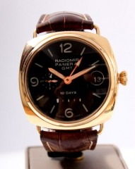 Panerai Radiomir GMT 18k Rose Gold 10 Power Reserve pam00273