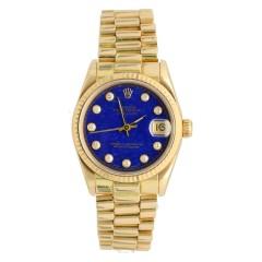 Rolex Datejust 18Krt. goud President Lapis Lazuli