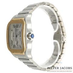 Cartier Santos de Cartier goud/staal Ref. W2SA0008
