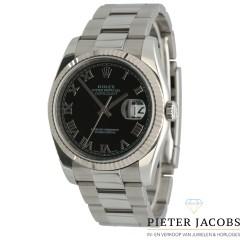 Rolex Datejust 36mm Black Roman Dial, Full set
