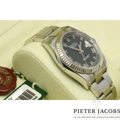 Rolex Datejust 36mm Black Roman Dial, Full set